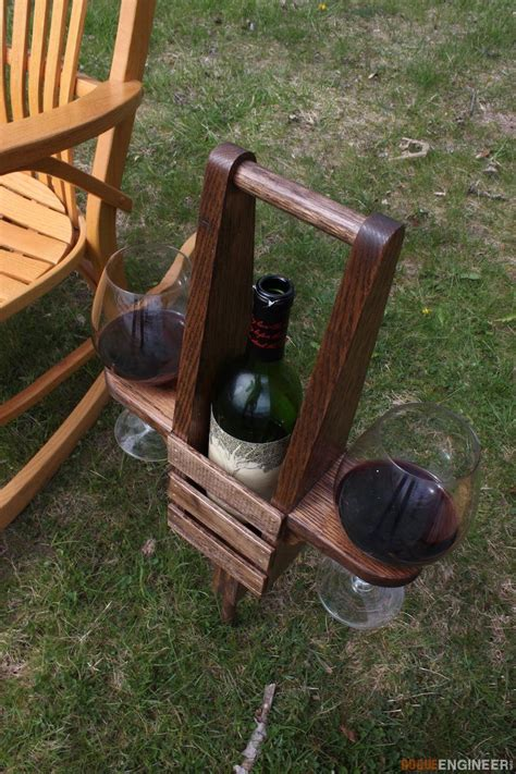 outdoor wine caddy diy woodworking woodworking projects