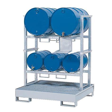 vasche sovrapponibili supporti sovrapponibili con vasca in acciaio per 3 fusti
