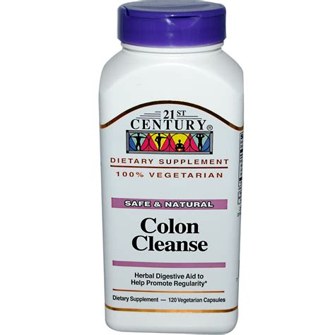 Detox Cleanse by 21st Century Health Care Colon Cleanse 120 Veggie Caps