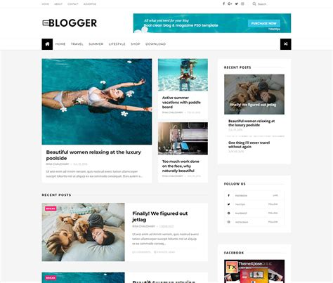 themes blogger template 25 best free responsive blogger templates 2018