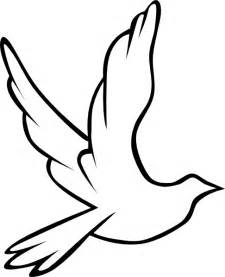 Holy Spirit Dove Outline dove clip at clker vector clip royalty free domain