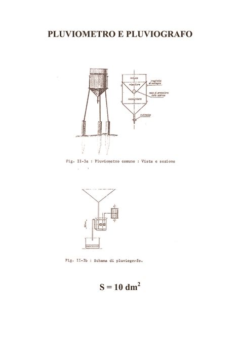 idrologia dispense pluviometria e pluviografia dispense