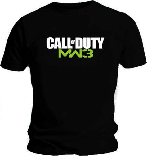 T Shirt Call Of Duty Mw3 Coklat official t shirt call of duty modern warfare mw3 black logo