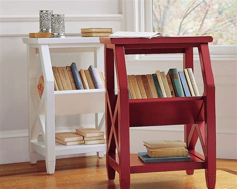 wooden 2 tier bookshelf