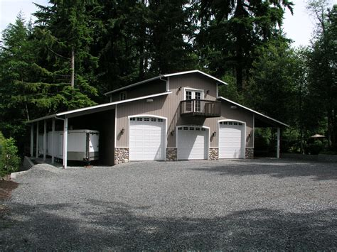 3 car shop plans for rv bay garage with sided
