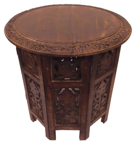 high accent table cotton craft jaipur solid wood handcrafted carved