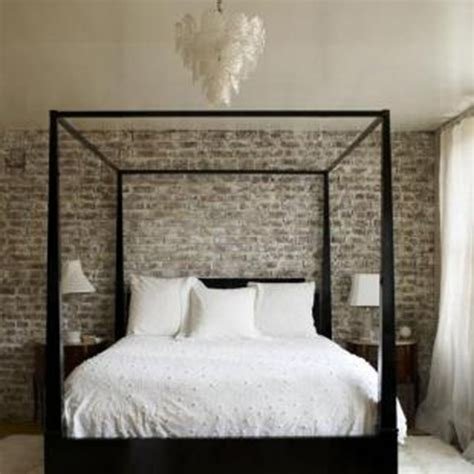brick wallpaper bedroom interior inspiration exposed brick wallpaper tribe