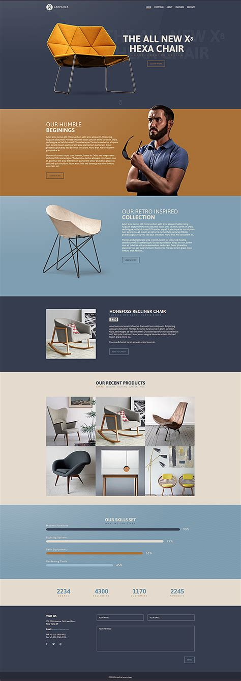 html5 canvas layout carpatica one page html5 template on pantone canvas gallery