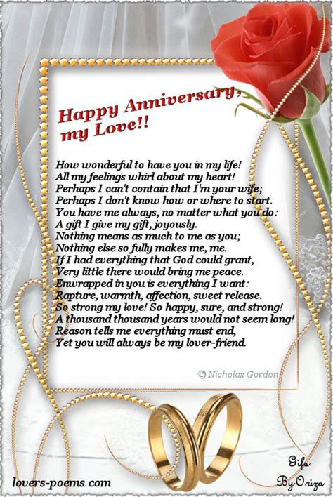 wedding anniversary poems for my happy anniversary my oriza net portal poems poetry