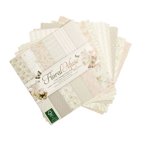 Dove Craft Paper - dovecraft floral muse designer paper 6 x 6in 150gsm