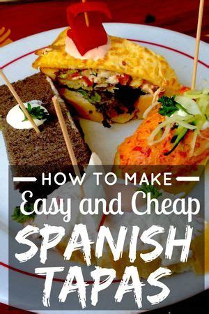 cheap  easy spanish tapas easy spanish recipes spanish tapas vegetarian tapas