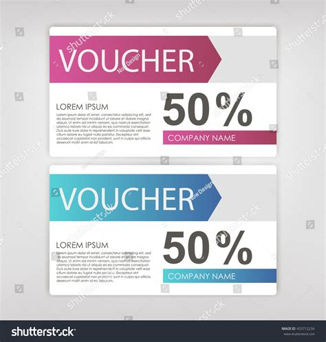 gift sale template voucher certificate coupon stock vector
