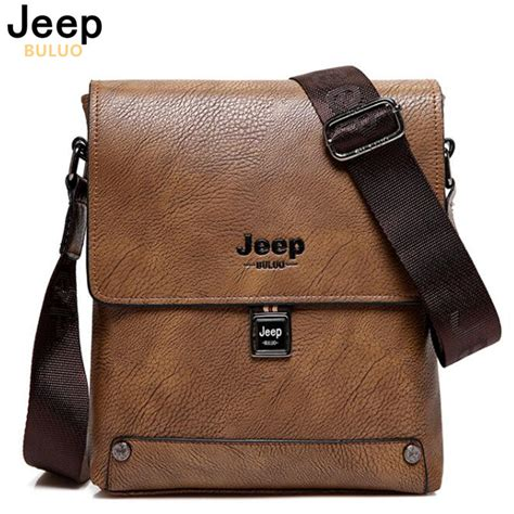 Buluo Jeep Original Brand Messenger Bags High Quality Casual Tas jeep buluo brand bag business briefcase s high quality cow split leather