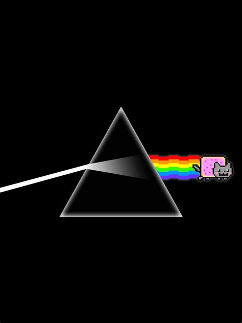 nyan cat wallpaper iphone nyan side of the moon iphone and ipad wallpaper by