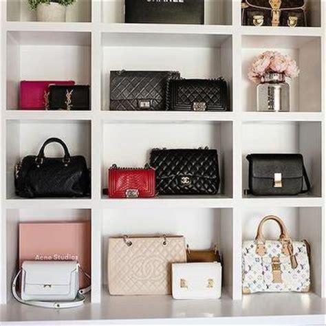 Purse Shelf by Walk In Closet Bag Shelves Design Ideas