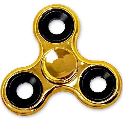 gold fidget spinner shiny gold metallic color fidget spinner edc bearing