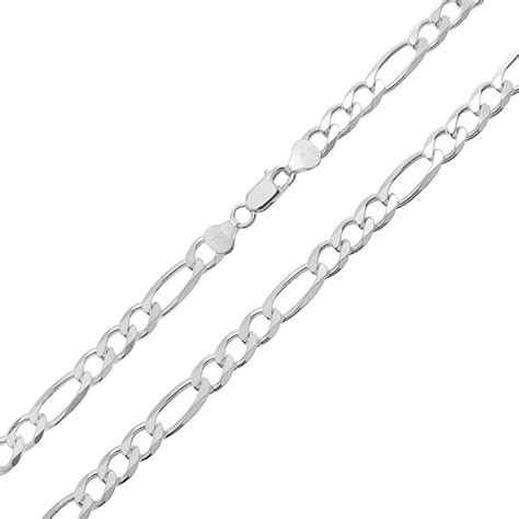 200 sterling silver figaro chain necklace italy