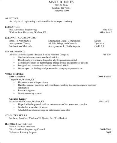 resume format for experienced pdf 7 sle resumes with no work experience sle templates
