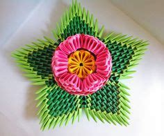 3d Origami Lotus Flower Tutorial - 3d origami spiral flower bowl by yarnroad on etsy