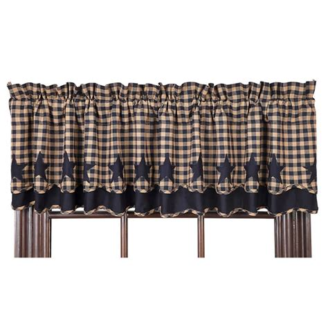 scalloped valance curtains navy star scalloped lined layered curtain valance 72 quot x 16 quot