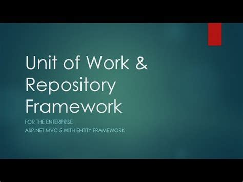net repository pattern and unit of work entity framework tutorial simple repository pattern c