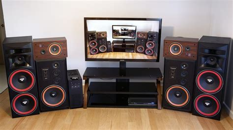 cerwin vega home theater sounds speakers   dj