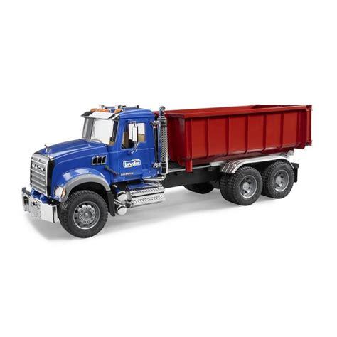 bruder truck bruder mack granite roll container truck jadrem toys