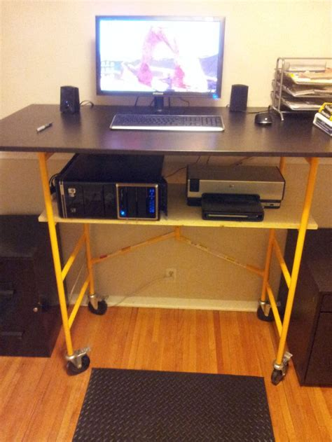 Diy Workstation Desk Stand Up Workstation Diy Crafts