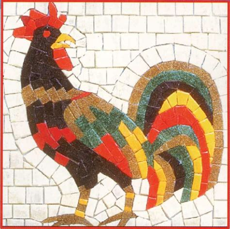 mosaic pattern birds rooster mosaic favecrafts com