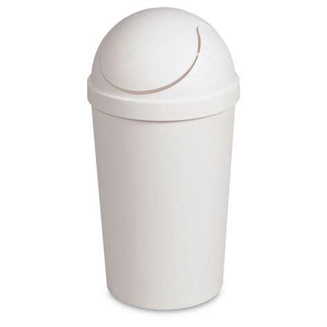 swing top wastebasket 3 gallon round swing top wastebasket