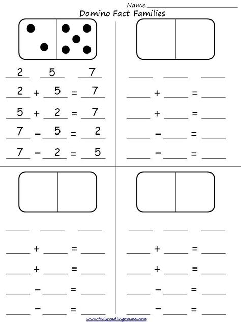 Fact Family Worksheets by 25 Best Ideas About Fact Families On Teaching