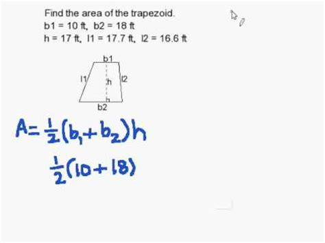 How To Find You On How To Find The Area Of A Trapezoid
