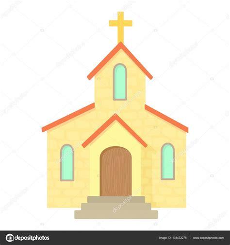imagenes biblicas de la iglesia icono de la iglesia estilo de dibujos animados vector