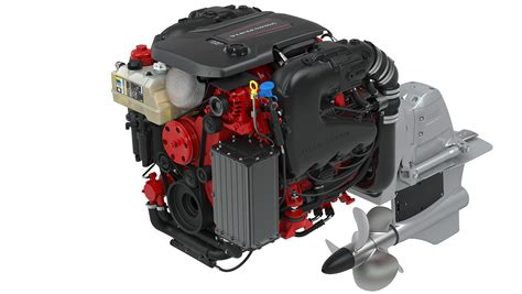 volvo penta unveils     hp  marine gasoline engines   miami international