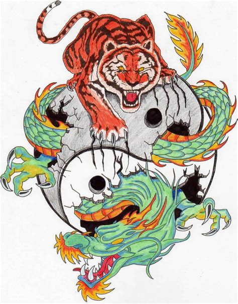 chinese dragon and tiger tattoo designs tiger and designs martial arts tattoos