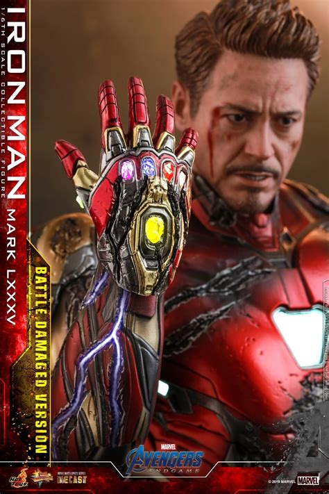 hot toys avengers endgame battle damaged iron man mms