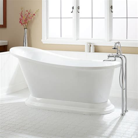in the bathtub 67 quot jessica acrylic slipper tub bathroom