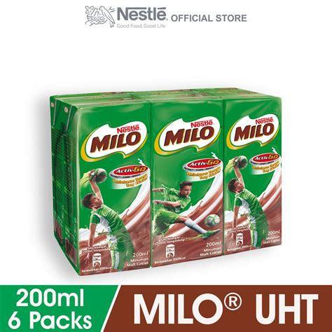 Zee Uht Up And Go 200 Ml milo activ go uht 200ml x 6 shopee malaysia