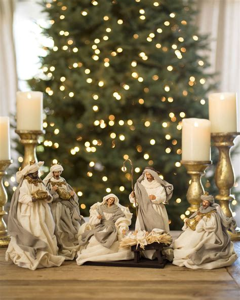 christmas kudil set online white nativity set balsam hill