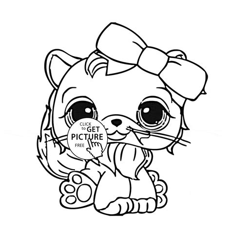 Old Lps Coloring Pages | littlest pet shop cute cat coloring page for kids animal