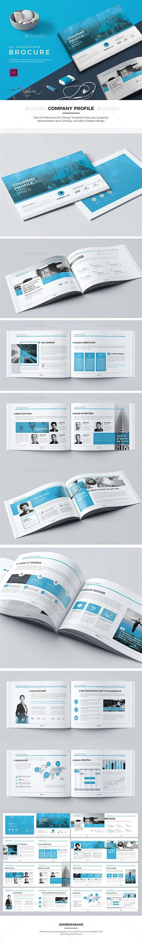 A5 Landscape Company Profile Indesign Indd Corporate Download Https Graphicriver Net Item Indesign Landscape Template