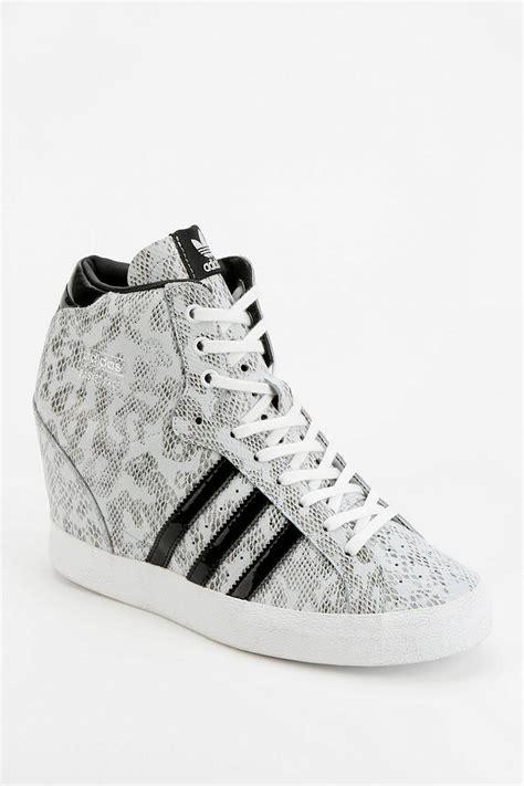 adidas high top wedge sneakers adidas basket snakeskin wedge hightop sneaker in