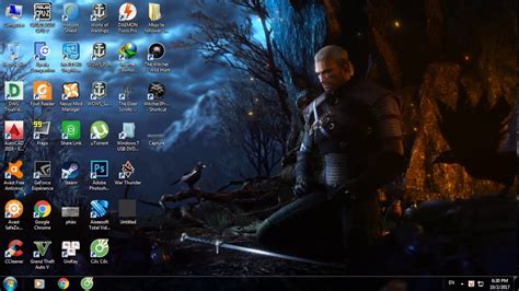 wallpaper engine in game wallpaper engine with the witcher 3 theme youtube