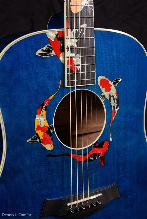 fan guitar and ukulele taylor guitars gallery series living jewel quot koi quot this