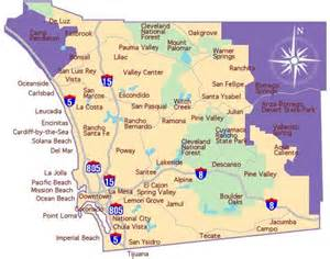 map of san diego county california map of san diego county for time home buyer programs