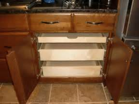 Kitchen Cabinets Roll Out Shelves by Pull Out Shelves In A Kitchen Cabinet Kitchen Drawer