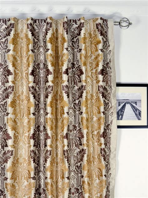 curtains custom made halo embroidered vase damask dupioni silk custom made