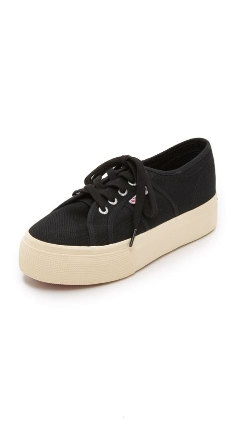 superga platform sneakers superga 2790 acotw platform sneakers in black lyst