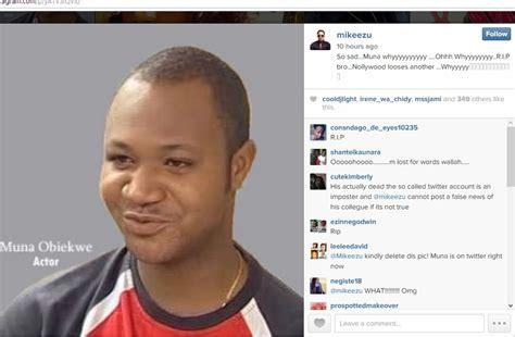 that nollywood actor muna obiekwe passed away from renal failure muna19 gossip mill nigeria