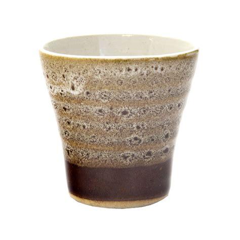 japanese pattern cup japan centre ceramic sake ochoko cup brown stripe